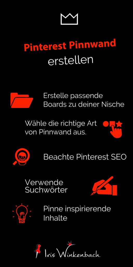 Ich nutze seit etwa drei Jahren Pinterest für die Kundengewinnung. Um damit zu starten ist der erste wichtige Schritt eine Pinterest Pinnwand zu erstellen.