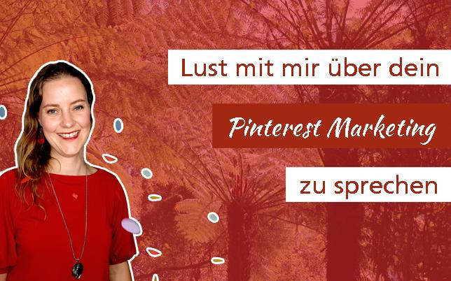 Pinterest Marketing Erstgespräch